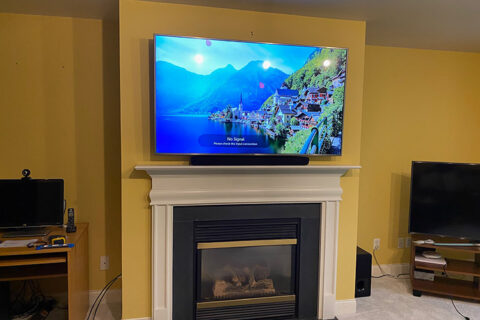 Mounted TV In Every Room